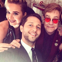 Houston, Elton John 70th birthday party, Katy Perry, Derek Blasberg, Elton John, Dakota Johnson