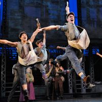 Gexa Energy Broadway at the Hobby Center series January 2014 Newsies ensemble
