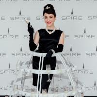 Audrey Hepburn Champagne Girl at Little Black Dress Designer 2017