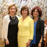 HGO Ball luncheon, March 2016, Denise Bush Bahr, Donna Josey Chapman, Donna Vallone