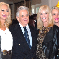 Victor Costa and models from the '80s at Salute to Retail Luncheon
