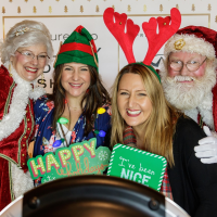 Santa picture, CultureMap Holiday Popup Shop 2017