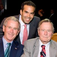 News_Bush literacy event_George W. Bush_George P. Bush_George H.W. Bush