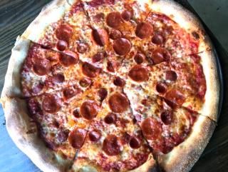 Pizaro's New York style pizza double pepperoni
