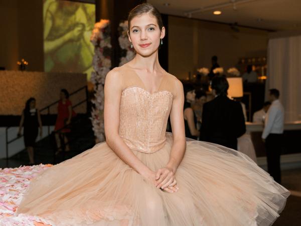 Ballerina Emelia Perkins at Museum of Fine Arts Grand Gala Ball