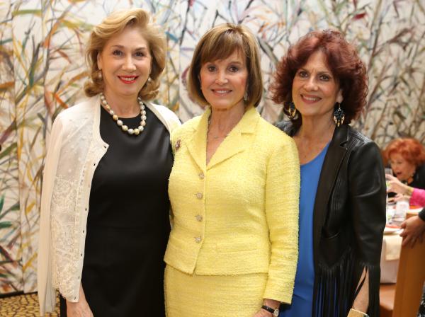 HGO Ball luncheon, March 2016, Denise Bush Bahr, Donna Josey Chapman, Donna Vallone