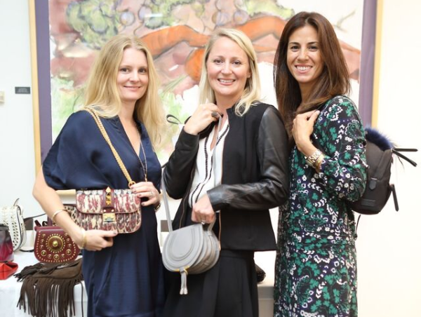 News, Shelby, Heroes & Handbags kick-off, Nov. 2015, Amy Boquist, Natasha Balette, Chay Taylor