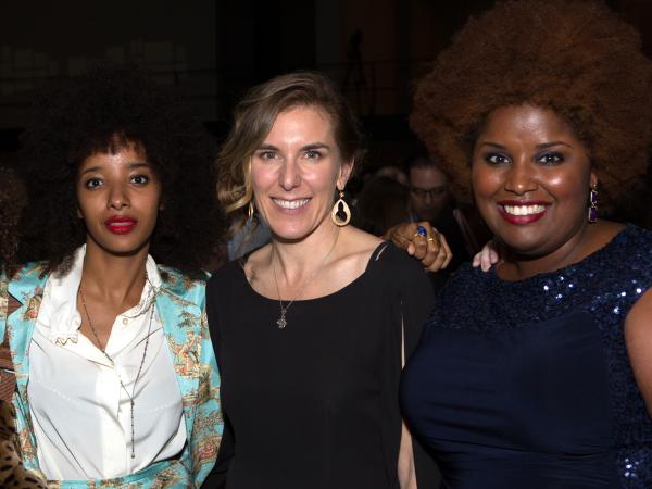 Houston, Cinema Arts Fest opening night, November 2015, Melissa Martian, Asli Omar, Amy Berg, Kam Franklin