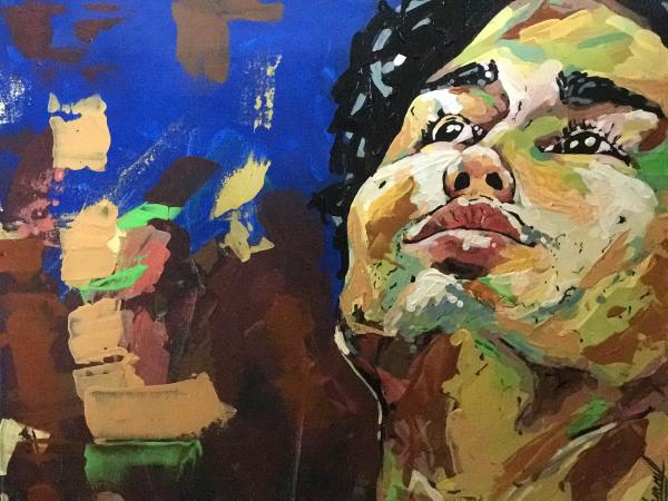 YMCA International Services art show, artist Juan Miguel