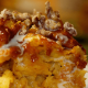 Killen's Steakhouse pumpkin bread pudding with cayenne-spiced candied pecans October 2014