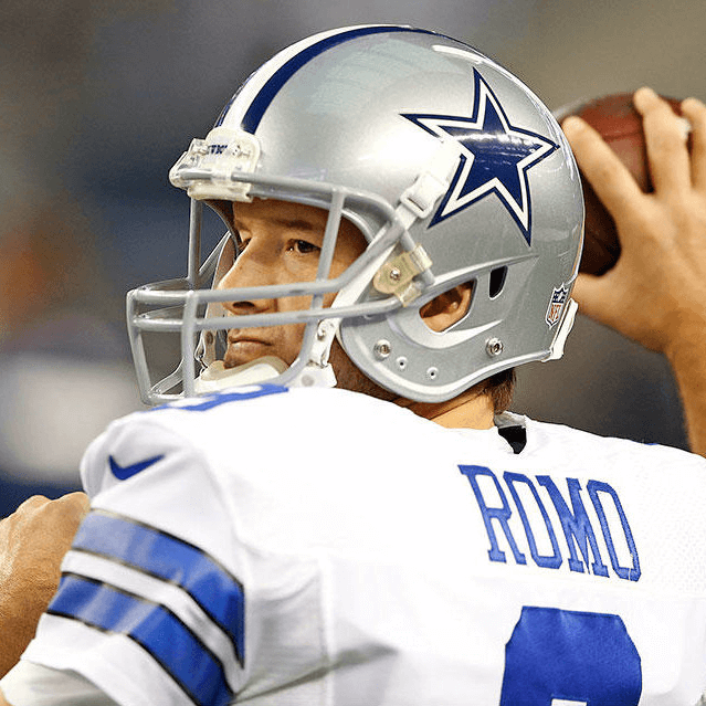 Tony Romo of the Dallas Cowboys