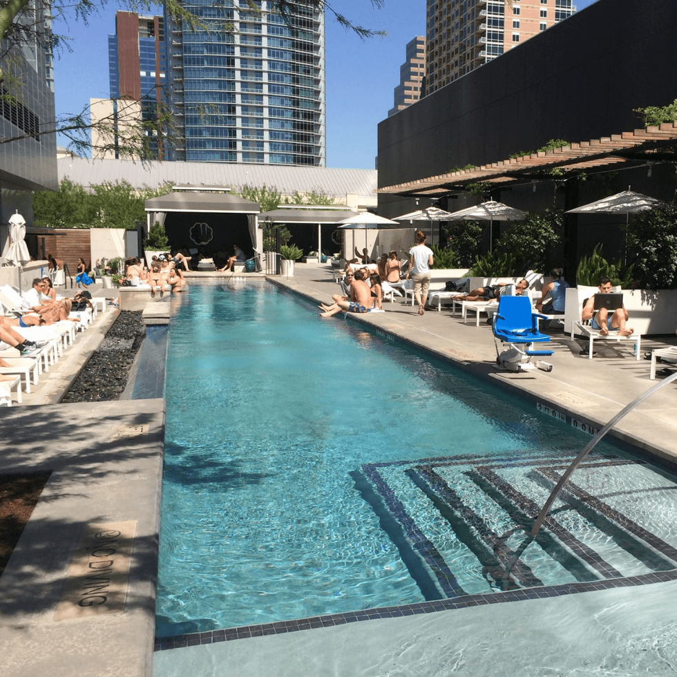 The W Austin Hotel pool Wet Deck