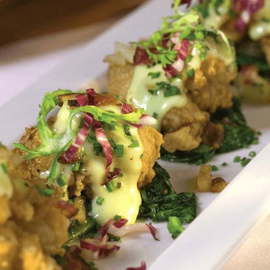 Silo Elevated Cuisine San Antonio restaurant chicken fried oysters