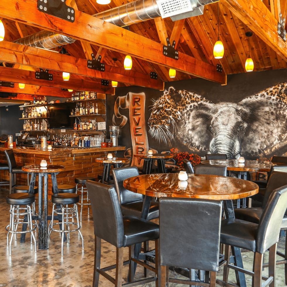 Revelry Kitchen + Bar interior art Jorge Palomarez