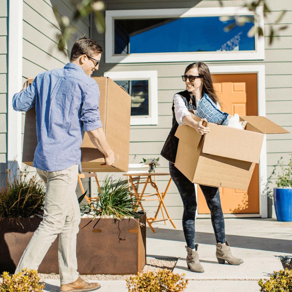 Easton Park development Austin home house move moving cardboard box