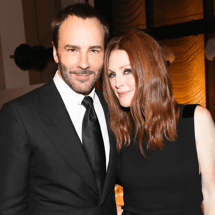 Tom Ford and Julianne Moore