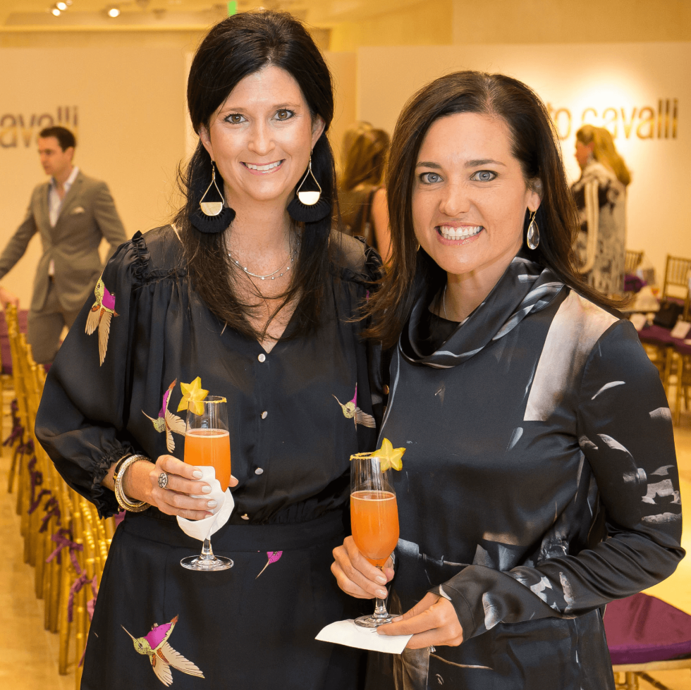 Roberto Cavalli fall fashion show DKR Fund benefit 2016 Jacy Donovan Kathrine Jones