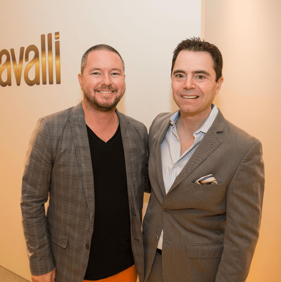 Roberto Cavalli fall fashion show DKR Fund benefit 2016 Matt Swinney Rob Giardinelli