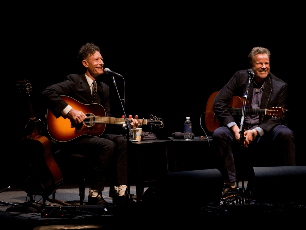 Lyle Lovett and Robert Earl Keen at Bass Hall in Fort Worth