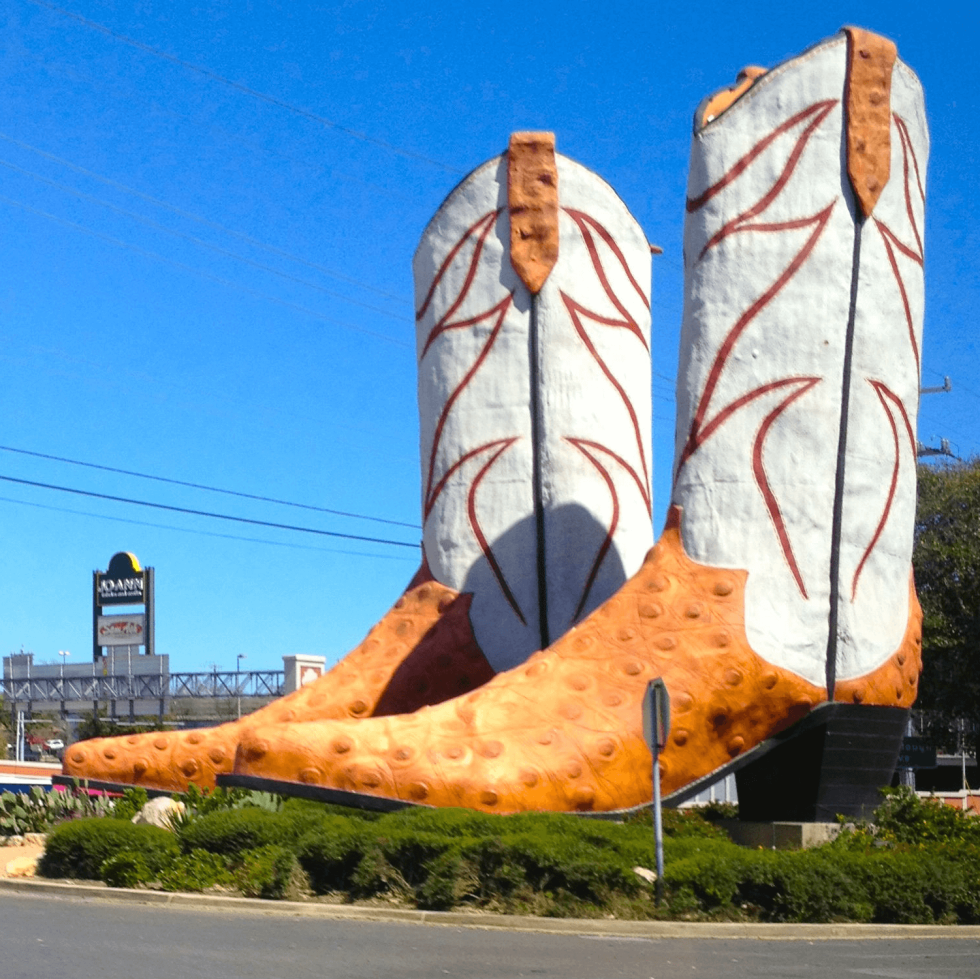 World's Largest Cowboy Boots San Antonio North Star Mall Bob Daddy-O Wade