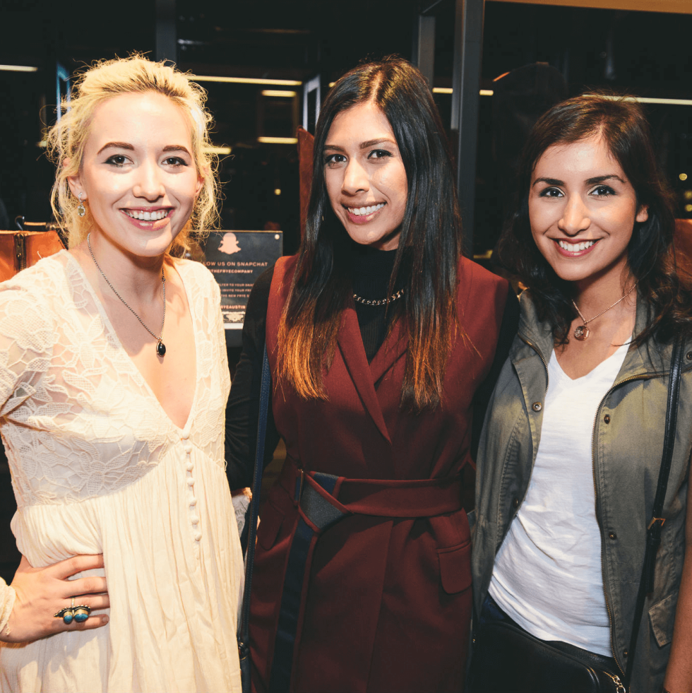 The Frye Company Austin grand opening 2016 Kate Schirm Sarah Pendley Jennifer Jamali