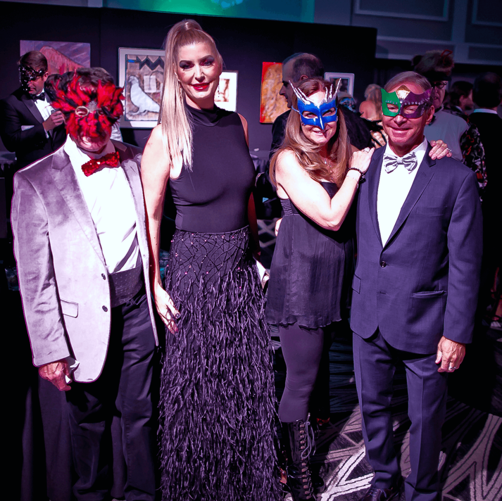 Houston, Orange Show gala, Oct 2016, David Gorfil, Karen Gorfil, Valerie Rosmarin, Lance Rosmarin