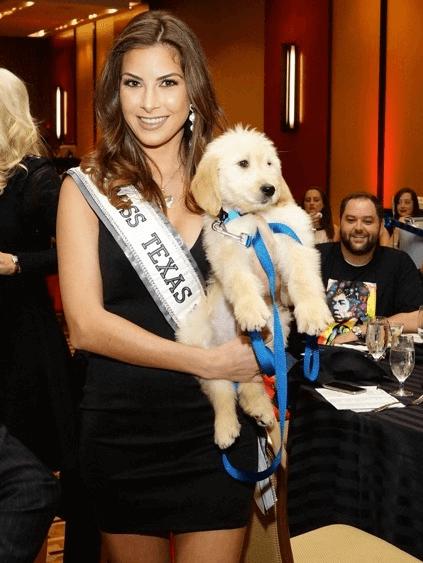 Houston, K9s4COPs Unleashed, Oct. 2016, Miss Texas Nancy Gonzalez