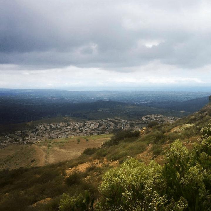 San Marcos aerial skyline