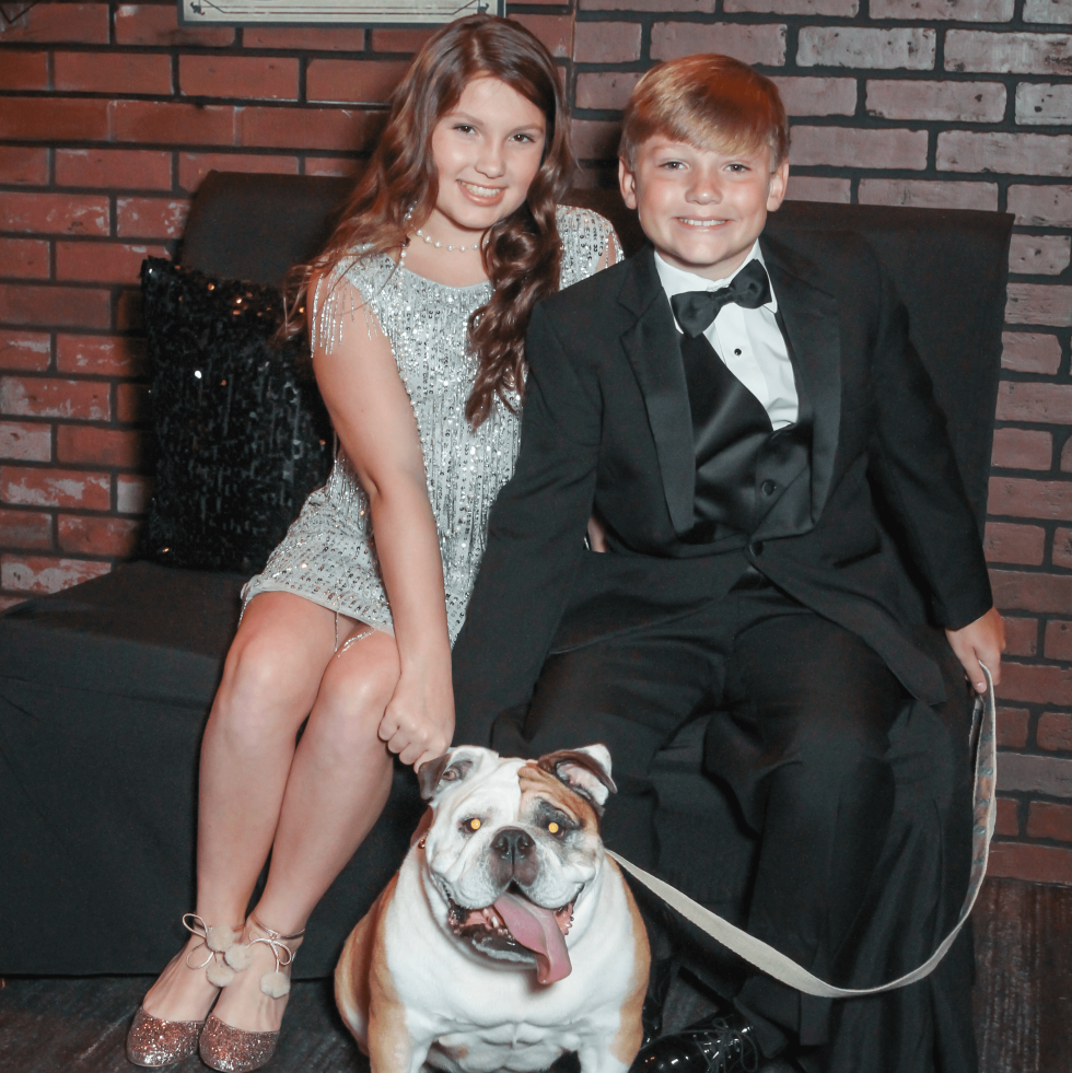 Alexandra and Stephen Gill with Bailey at CAP Gala
