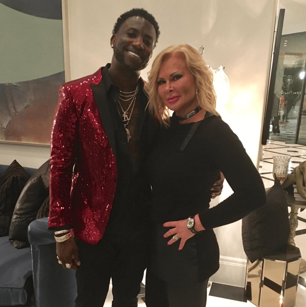 Theresa Roemer, Gucci Mane at rap video shoot
