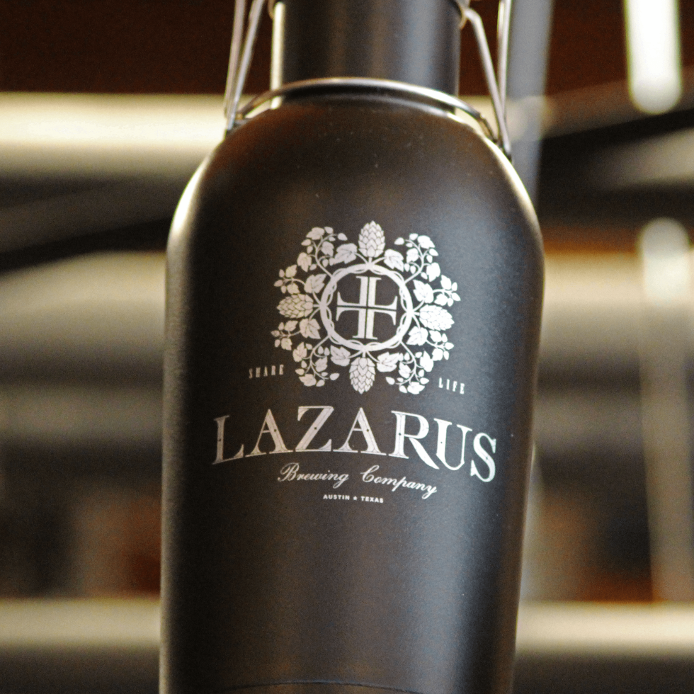 Lazarus Brewing Company brewery Austin growler