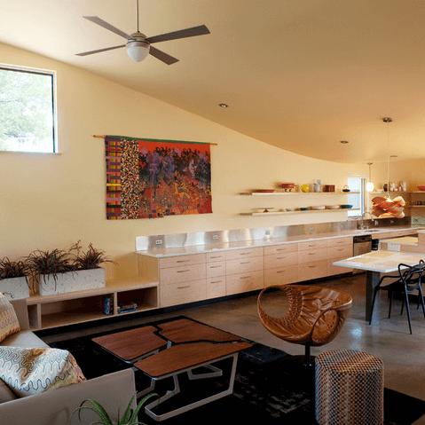 East Austin house home Houzz universal design