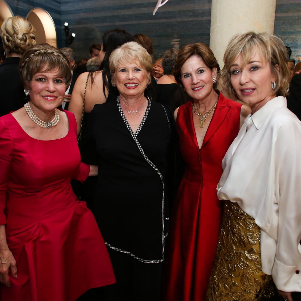Blanton Museum of Art Gala 2017 Regina Rogers Ginger Blanton Judy Tate Cathy Borlenghi