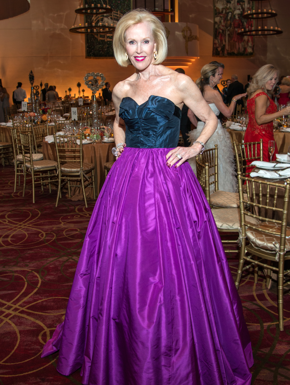 Houston, Ballet Ball gowns, Feb 2017, Claudia Hatcher in Oscar de la Renta