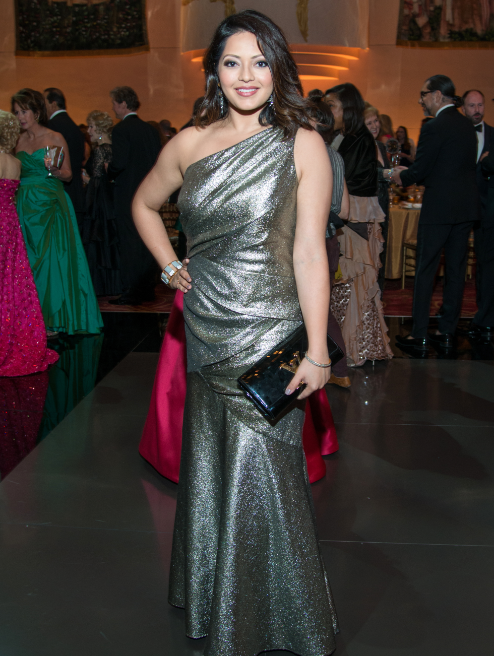 Houston, Ballet Ball gowns, Feb 2017, Rekha Muddaraj in Carmen Marc Valvo