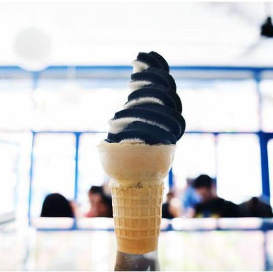 Black ash ice cream