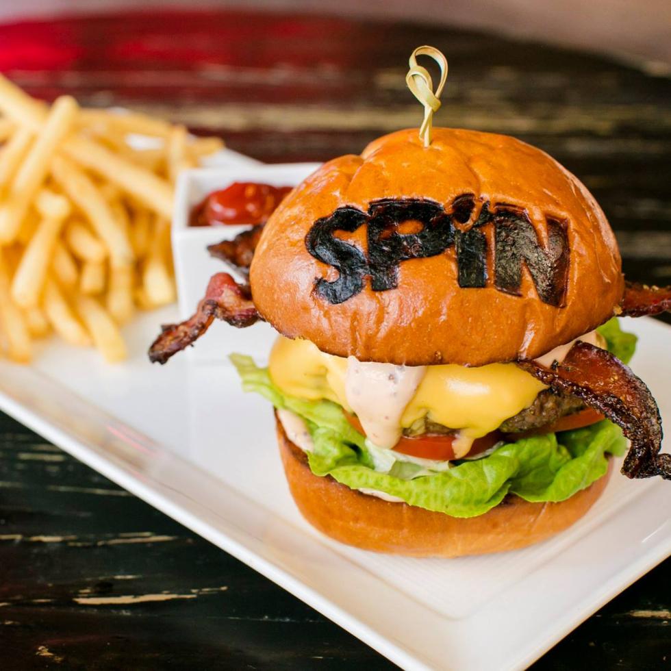 Spin ping pong bar burger