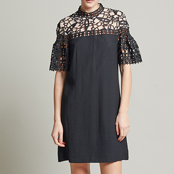 Vivienne Tam Rodeo and panda lace dress