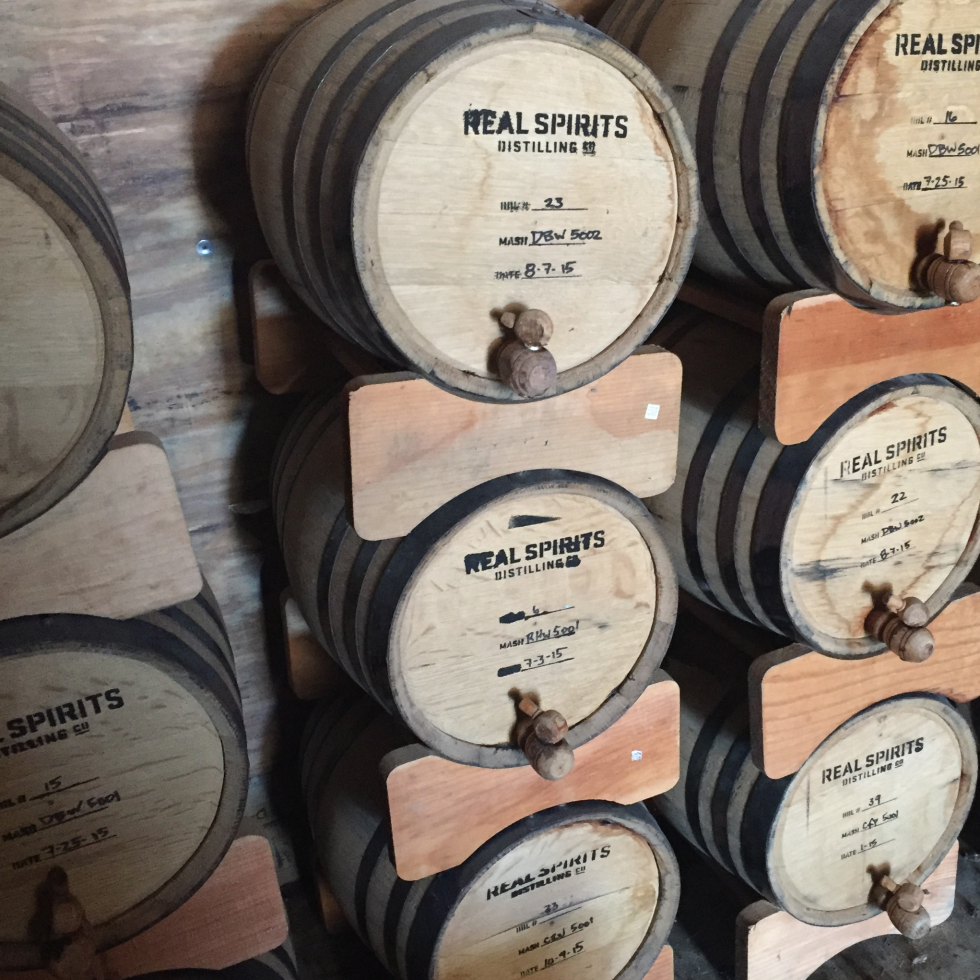 Real Spirits barrels