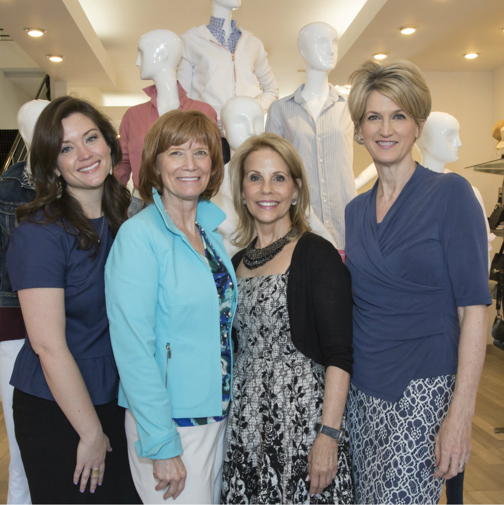 Kelcey Hamilton (The Real Estate Council), Beth Thoele (Can Do Luncheon Chair), Anne Reeder (Executive Director of Wilkinson Center), Kristi Francis (Can Do Luncheon Underwriting Chair)