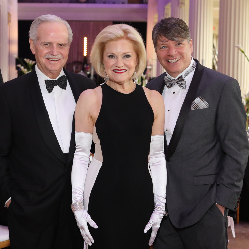 Managing Director Mark Folkes, Gala Chairs Jim and Jo Furr, Artistic Director Kenn McLaughlin at Stages Gala 2017