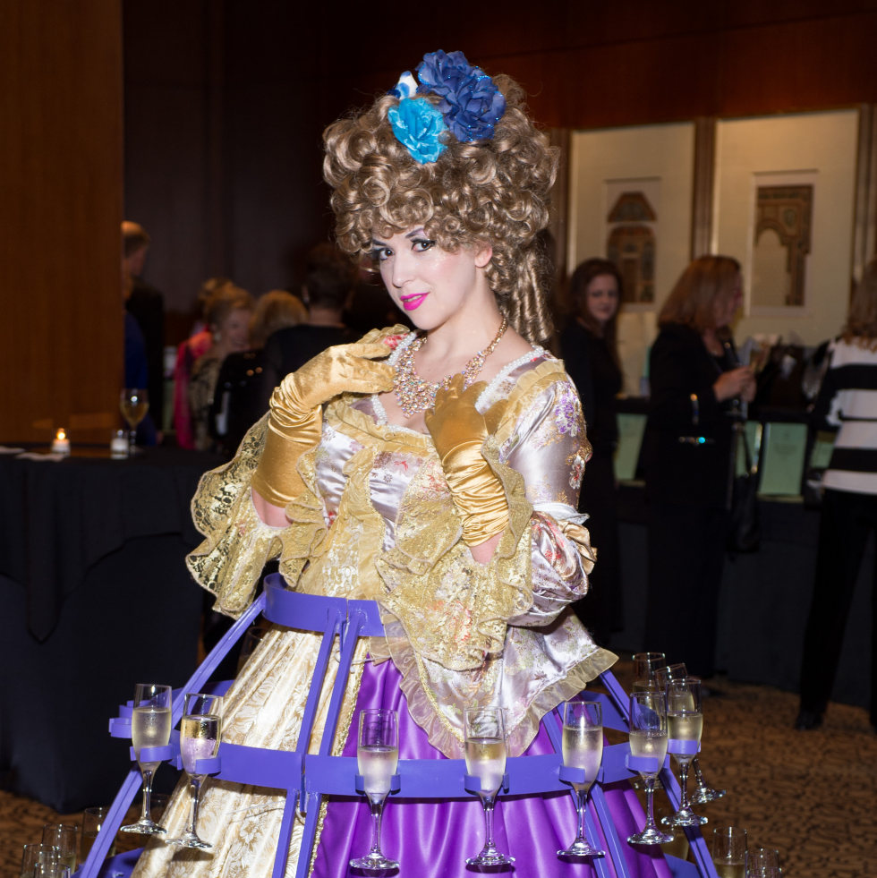 Covenant House Gala 2017 strolling champagne lady