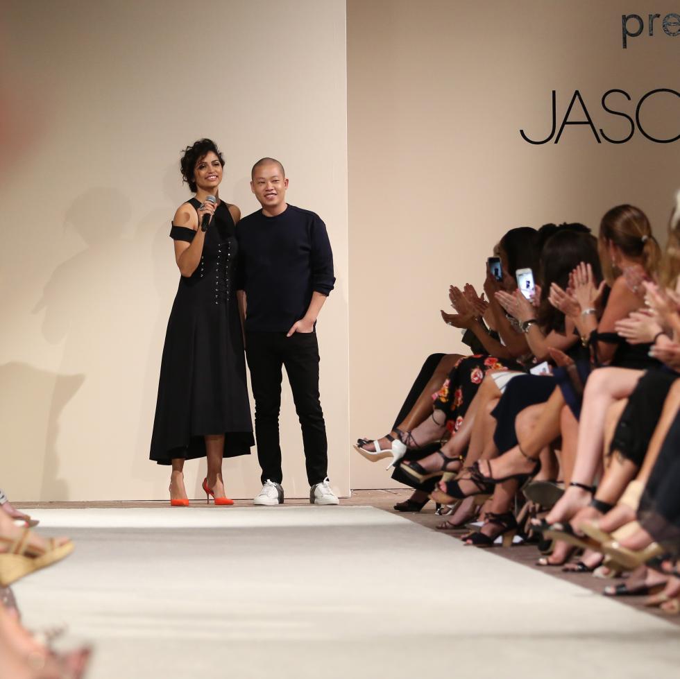 Mack, Jack & McConaughey 2017 Jason Wu fashion show Camila Alves