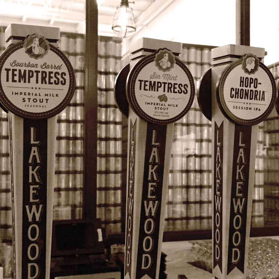 Lakewood Brewing Company taps