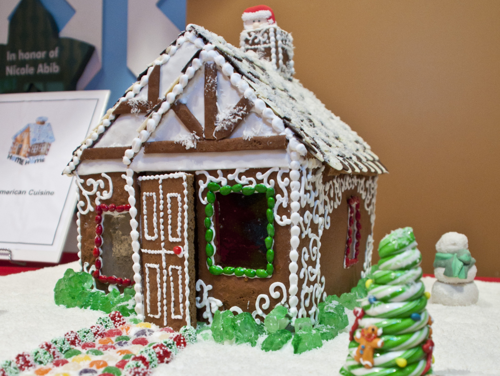 News_Gingerbread House Party_December 2011_Mark's American Cuisine Gingerbread House