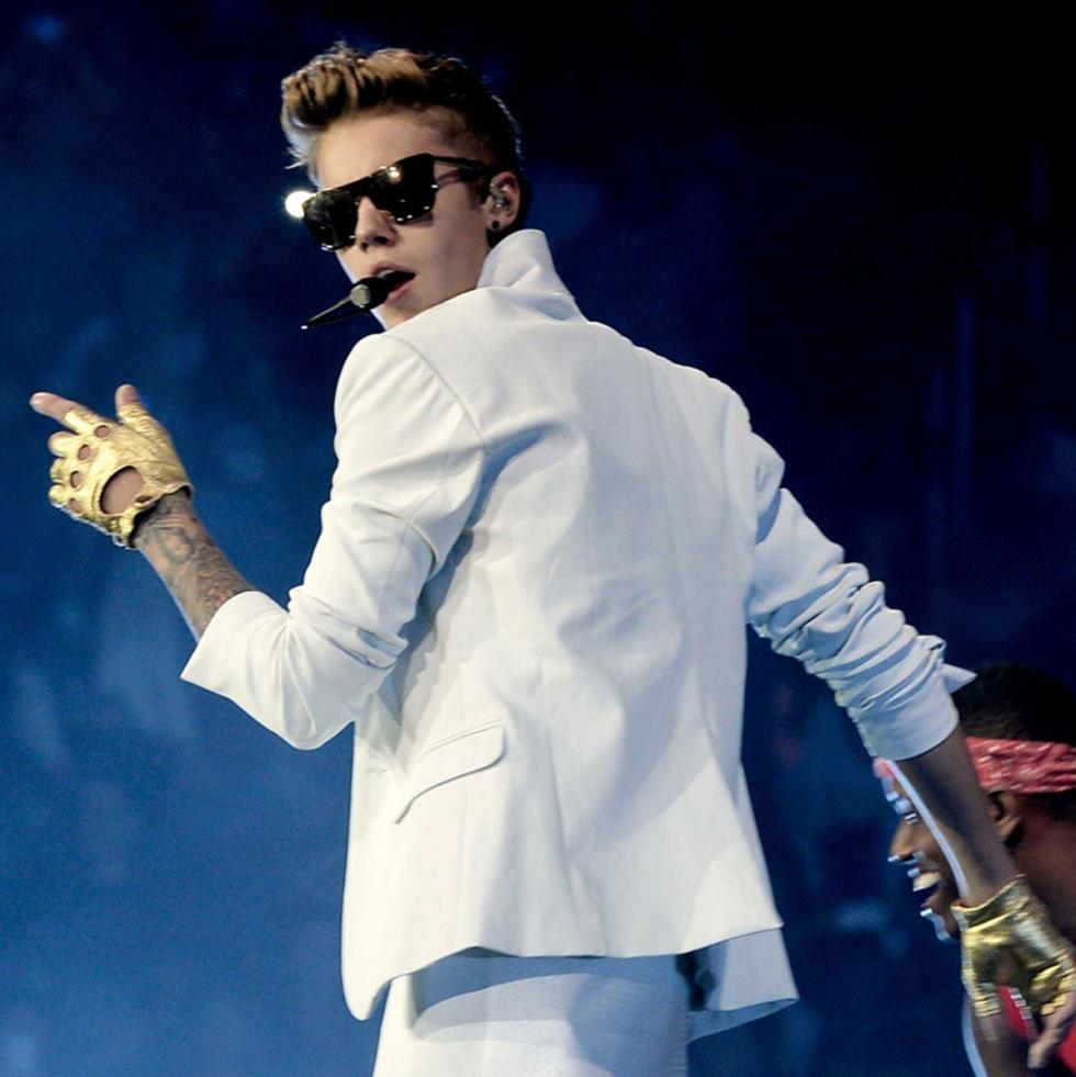 Justin Bieber in concert on Believe world tour