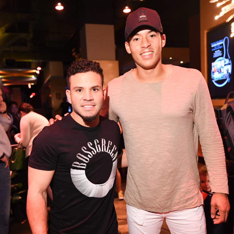 Houston, George Spring Bowling Event, June 2016, Jose Altuve, Carlos Correa
