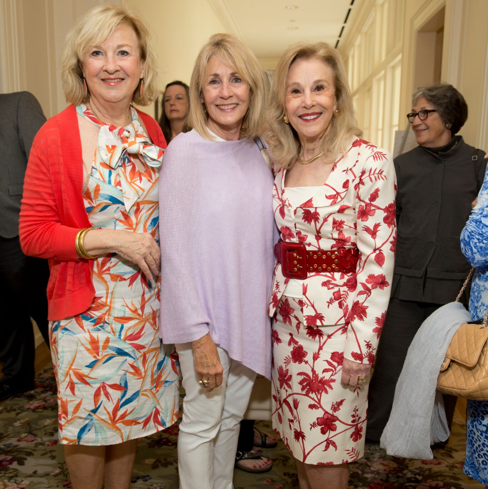 Houston, Bayou Preservation Association Anniversary Luncheon, May 2016, Joan Pratka, Marsha Braniff, Geri Noel