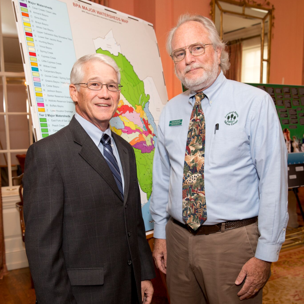 Houston, Bayou Preservation Association Anniversary Luncheon, May 2016, Dennis Winkler, Tom Kartrude