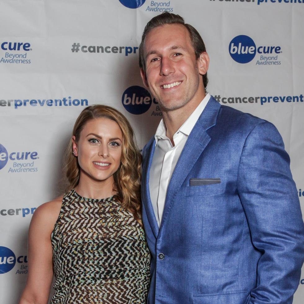 Blue Cure Gala, April 2016, Angela Mecca, Owen Daniels